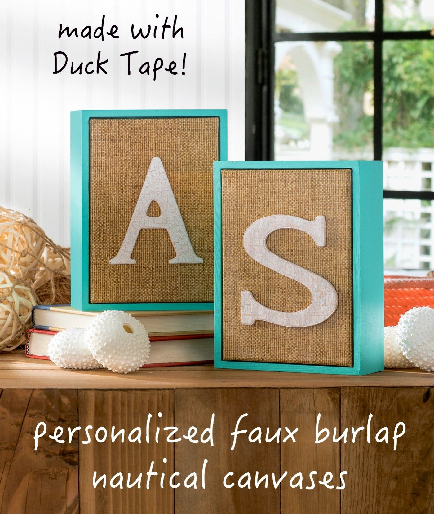 Personalized nautical wall art nautical wall art duck tape and burlap