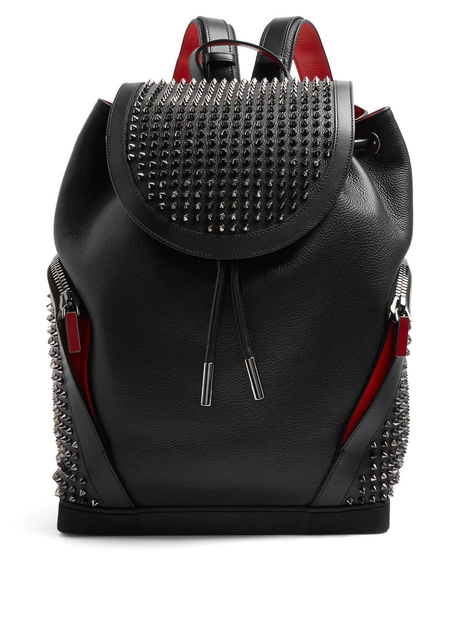 441b59cb7f5 Explorafunk leather spike-embellished backpack | Christian Louboutin ...