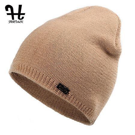 431437f275f FURTALK Unisex Spring Autumn Watch Cap Woman Wool Knit Beanie Ski Cap  Braided Hat skull hats