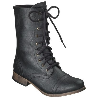 $34.99 Women's Mossimo Supply Co. Khalea Combat Boots - Black ...