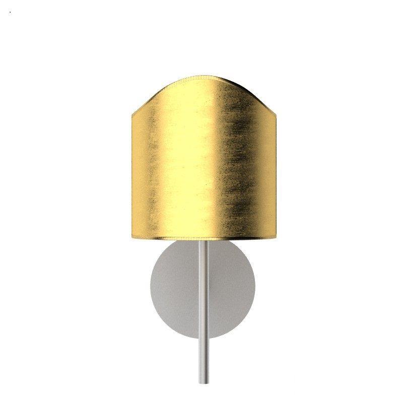 Applique 1 luce con struttura in metallo niikel spazzolato e ...