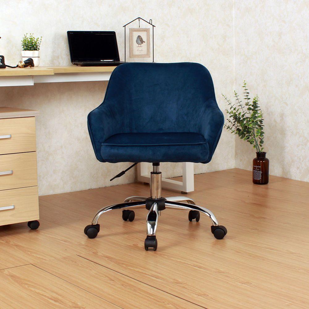 Office Chair MidBack Desk Task Velvet Seat Backrest