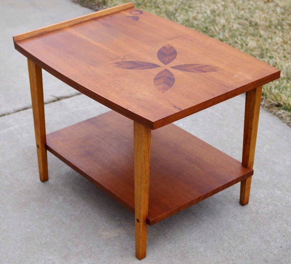 Vintage LANE Rosewood Inlay End Table Mid Century Modern 939 05 SOLID WOOD  #LaneFurniture