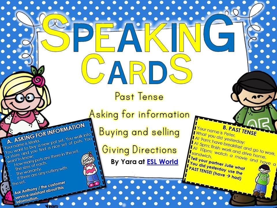 Esl speaking activities role play cards pack 1 role