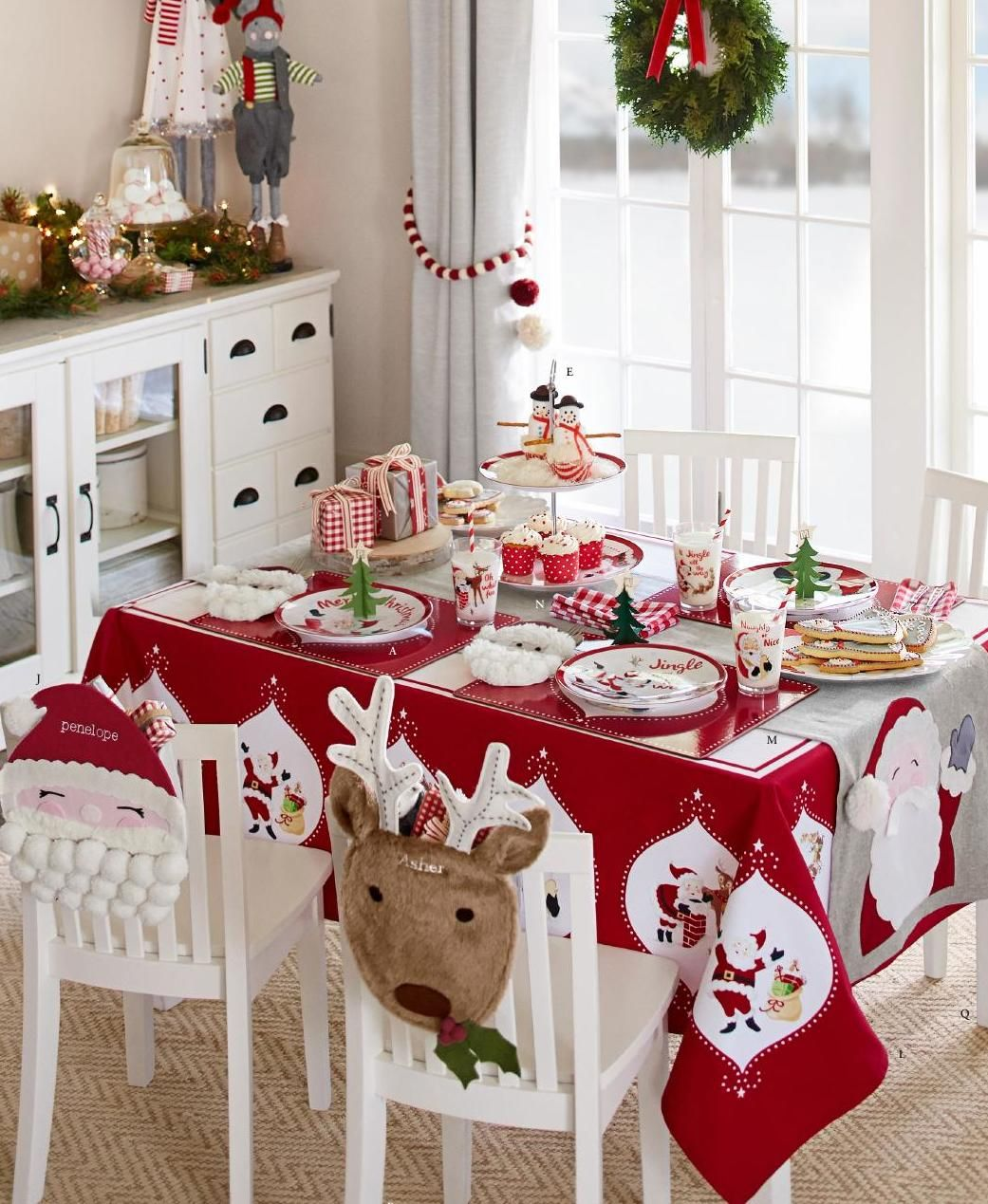 Kitchen Table Decor Ideas: Christmas Decorations For