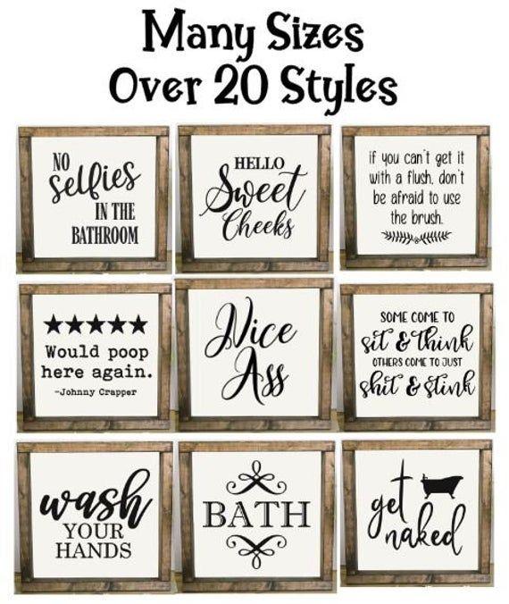 Bathroom Signs, Bathroom Humor, Framed Bathroom Si