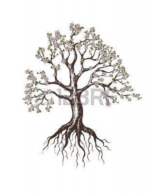 tattoo oak tree heart tree roots branches tree tattoo ...