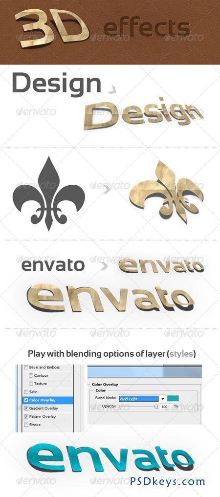 3D Photoshop Action v 1 (paper effect) 141657   de PSDKEYS   3d
