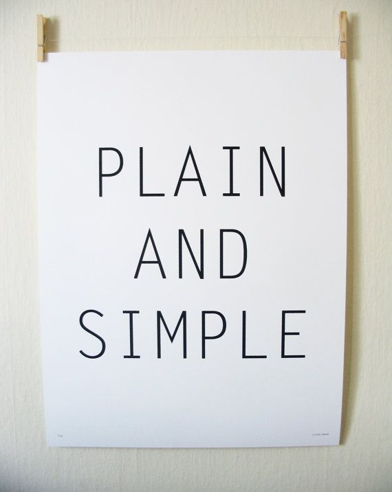 Plain And Simple  Silkscreen Print by WiderAwake on Etsy, $18.00