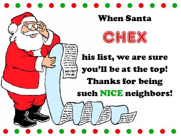 Free printable gift tag for your christmas neighbor gift goes free printable gift tag for your christmas neighbor gift goes great with chex mix negle Image collections