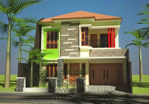 Warna Cat Depan Rumah yang Bagus | Rumah minimalis, Desain ...