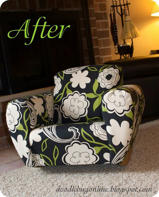 Reupholstering Childu0027s Chair   These Ladies Make It Look So Easy And Fun!!  Definitely