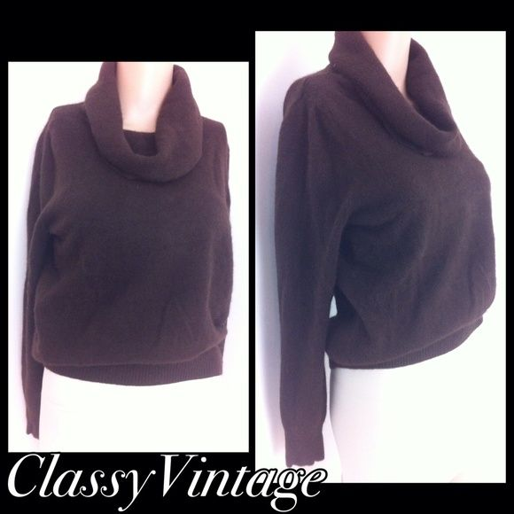 Dark brown cowl neck sweater | D, Tags and Cowls