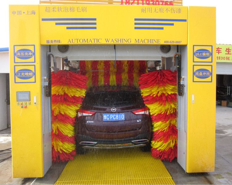 Rollover automatic car wash machine price with 5 sponge