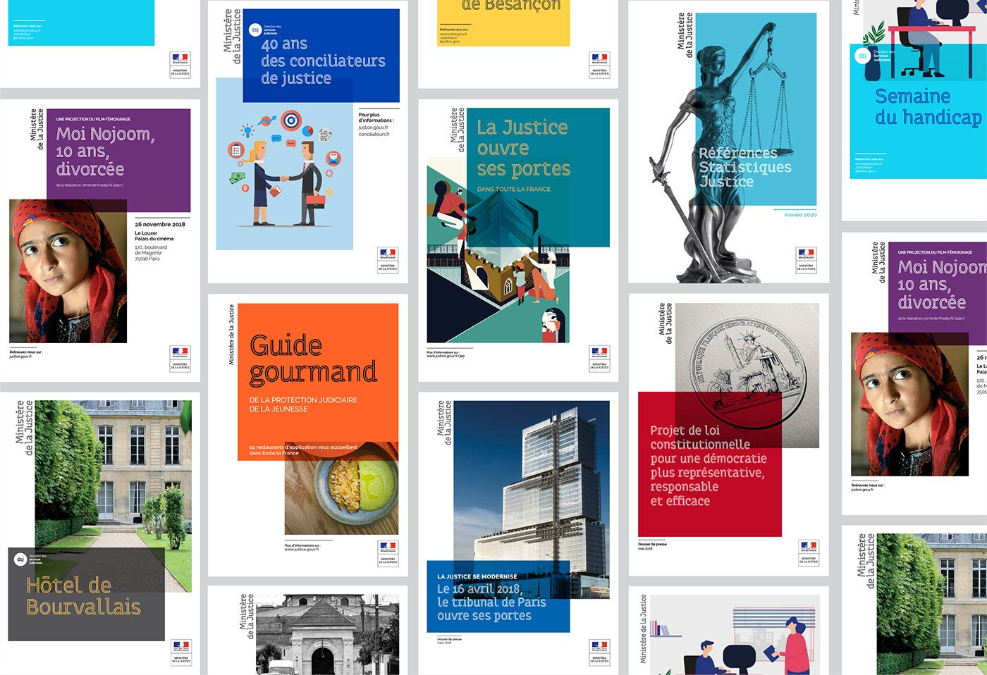 French Ministry Of Justice Visual Identity On Behance Ministry Of Justice Visual Identity Communication Department