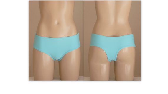 Turquoise fully lined cheeky boy short-Bikini bottoms- Swimwear-Bathing suit-Bikini boyshort-High waist bottoms-Choose your color-XS-SM-L-XL