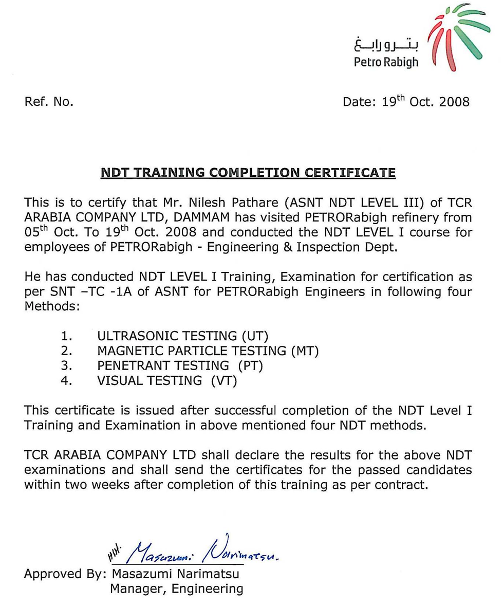 Sample course completion certificate template choice image certificate sample for industrial training images certificate sample course completion certificate template image collections sample certificate yelopaper Images