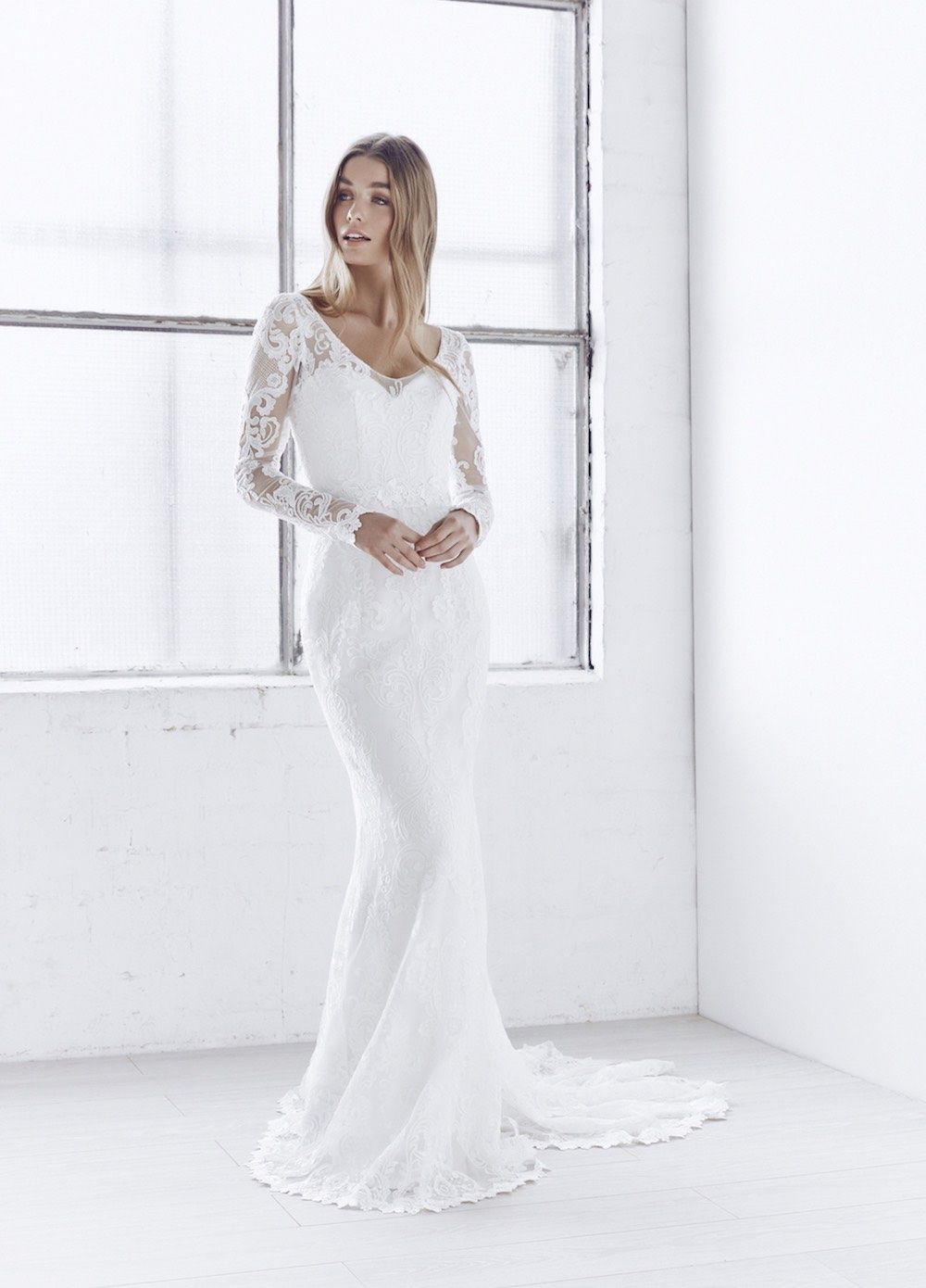 Anna campbell long sleeve wedding dress ceremony collection