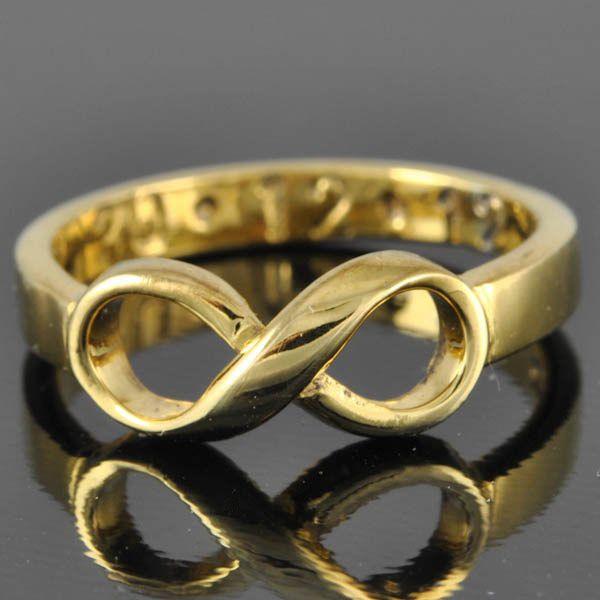 Freundschaftsringe best friends  10K gold infinity ring, infinity knot ring, best friend ring ...