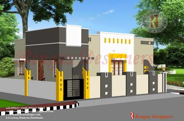 Single floor house designs design compound wall gate also architectural drawings rh pinterest