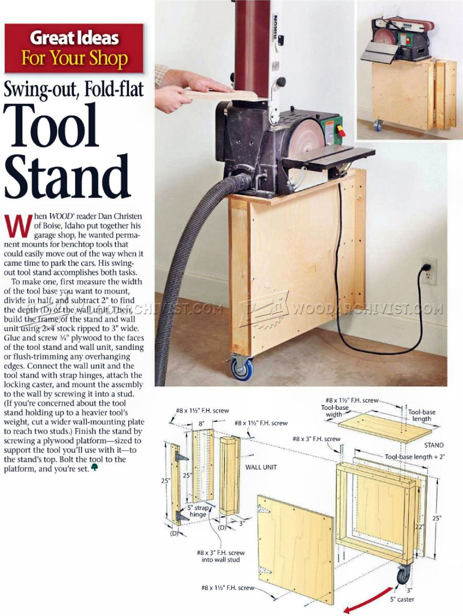 Swing-Out Tool Stand Plans - Workshop Solutions Plans, Tips and Tricks…