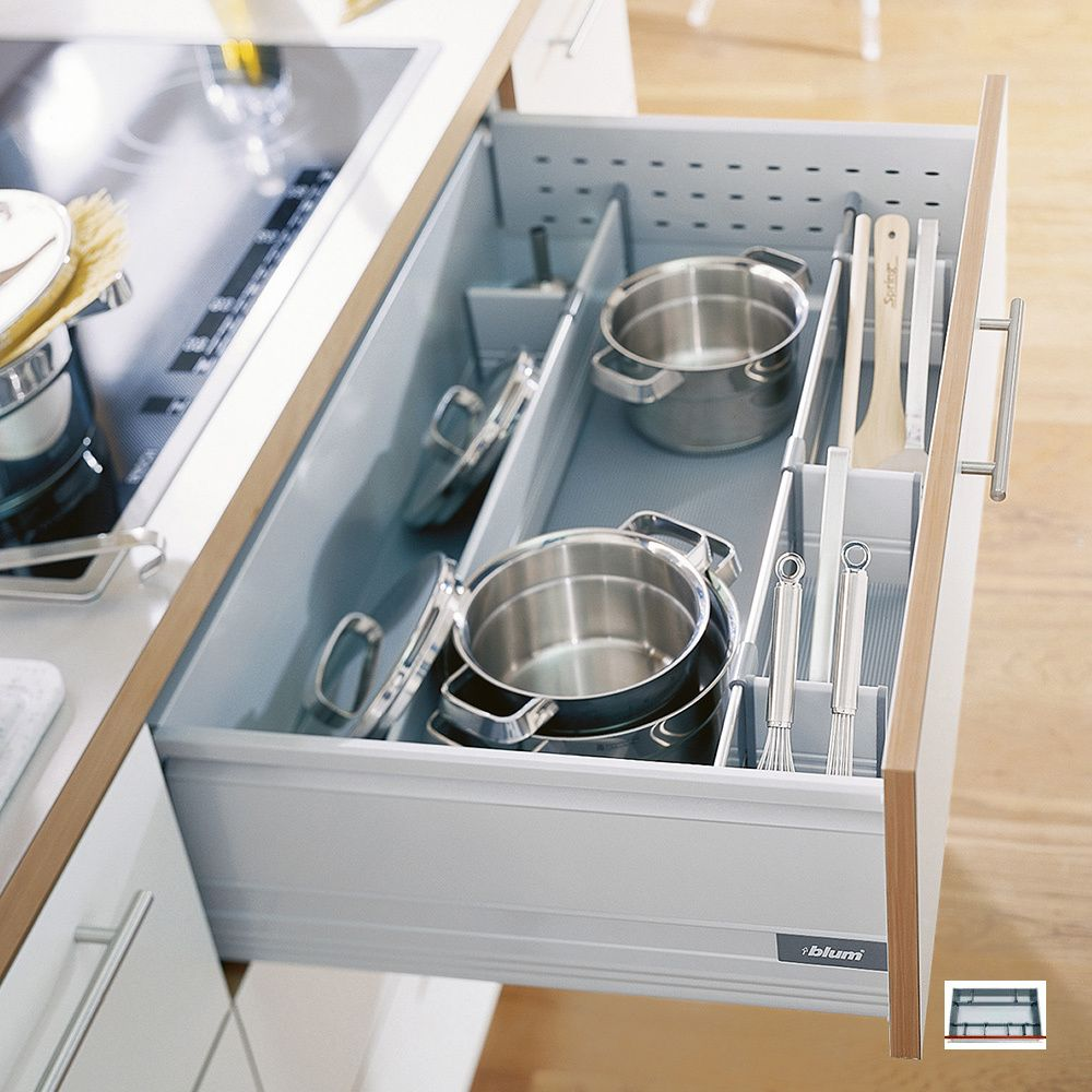 Pan Set     Blum Pan Dividers Provide Safe Storage For Pots And Pans Plus  Utensils U2013 A Pan Drawer Divider Set Keeps Everything In One Place.
