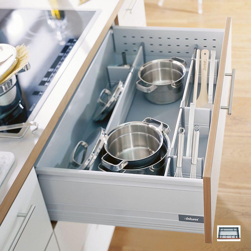 Pan Set - £60 - Blum pan dividers provide safe storage for pots and ...