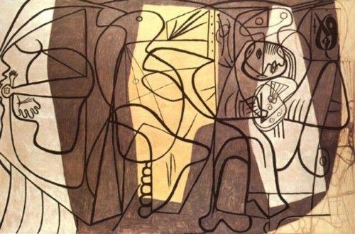 El pintor y su modelo, Pablo Picasso.París, 1926 Óleo sobre lienzo, 172 x256cm.