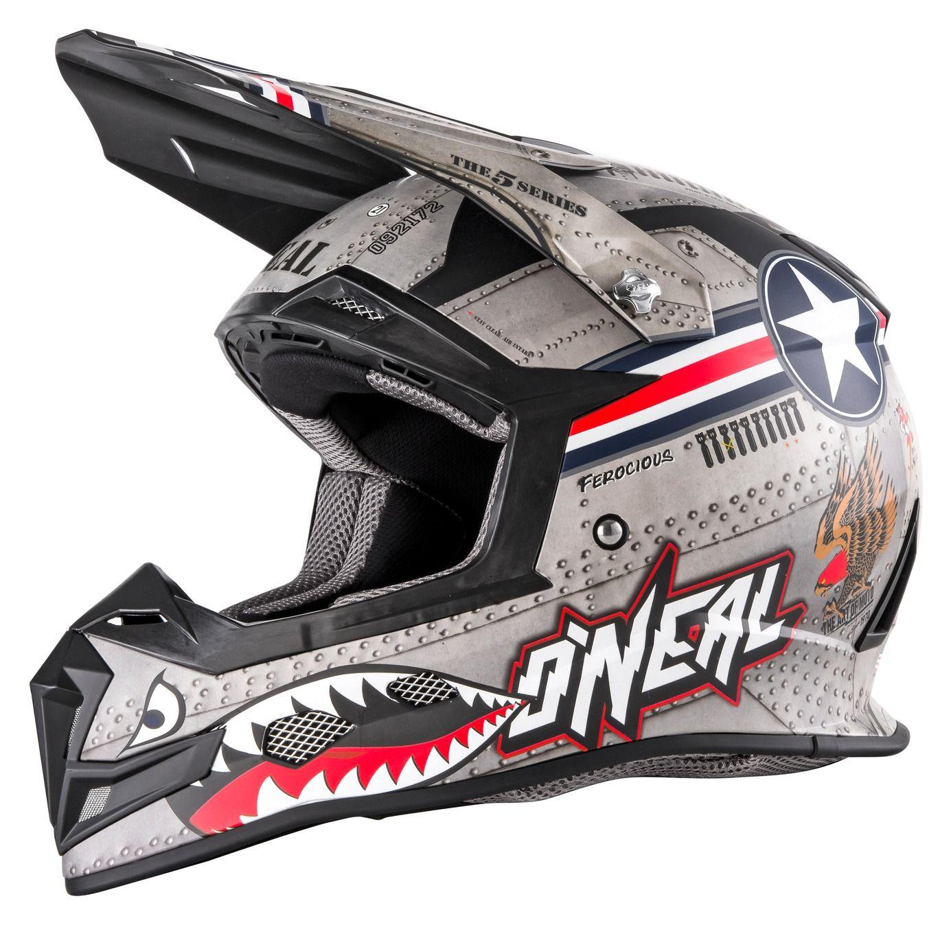 O/'Neal 5 Series Helmet Wingman Gray//Black Offroad//MX//ATV//Motocross//Dirt Bike