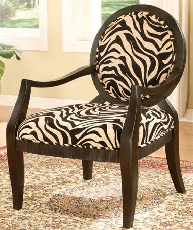 Armchair | Fabric armchairs, Printed accent chairs, Zebra ...