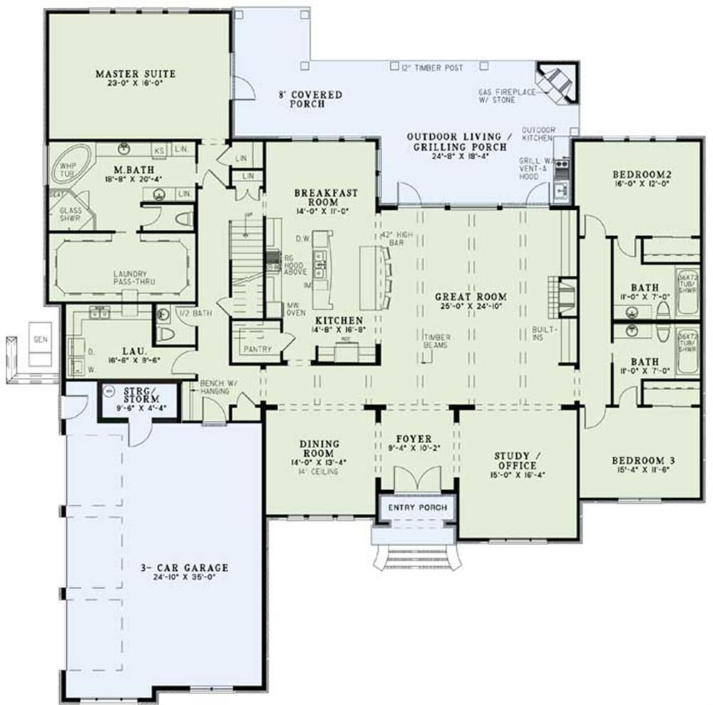 Large Images For House Plan 153 1095 House Plans And More House Plans Monster House Plans