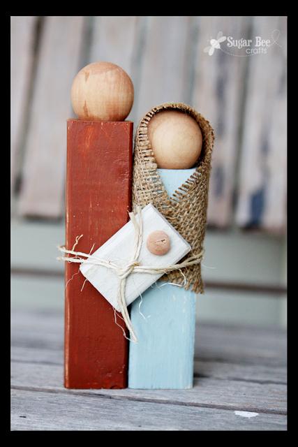 Wooden Nativity Silhouette Statue – Sugar Bee Crafts