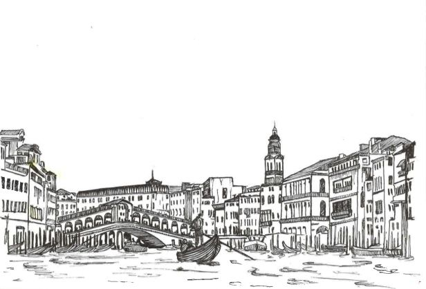 Margaux Giron work on the city and its monuments Postcard VENISE  https://www.behance.net/gallery/16948205/Postcard