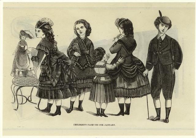 Moda para niños en 1870