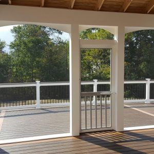 archadeck porches with decks in double porch st floors by windows doors screened louis walls