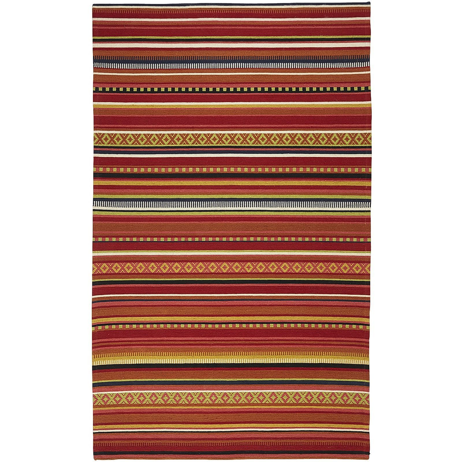 Spice up a lonely floor with a gorgeous tapestry. Classic stripse never go out of style, and the vibrant, sunset-inspired hues of our rug deliver instant warmth. Perfect for indoors or covered patios.