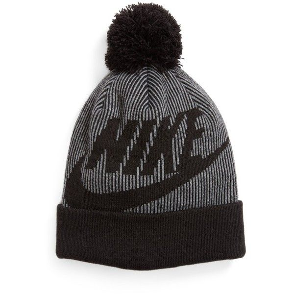 Women s Nike Sportswear Beanie With Removable Pom ( 28) ❤ liked on Polyvore  featuring accessories 749b245fc