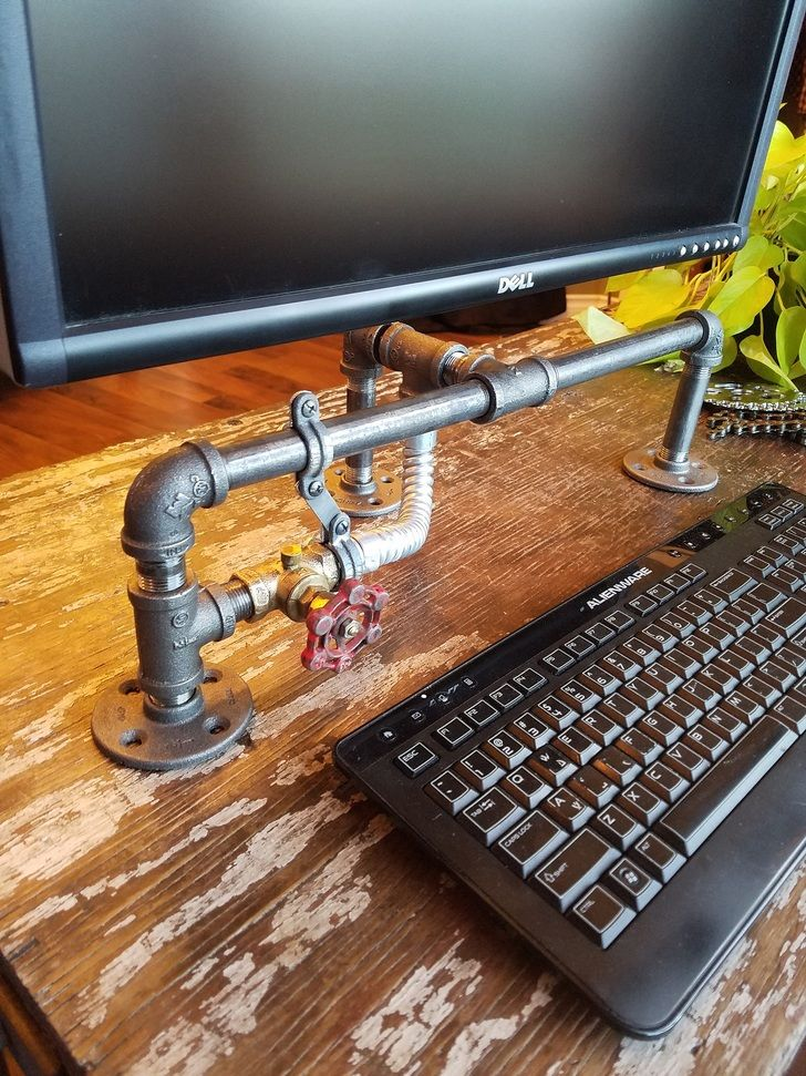I Made Myself A Steampunk Style Monitor Stand Monitor Stand Monitor Steampunk