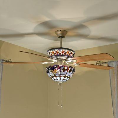 Allistar 52 dual lit tiffany inspired stained glass ceiling fan allistar 52 dual lit tiffany inspired stained glass ceiling fan compare price aloadofball Images