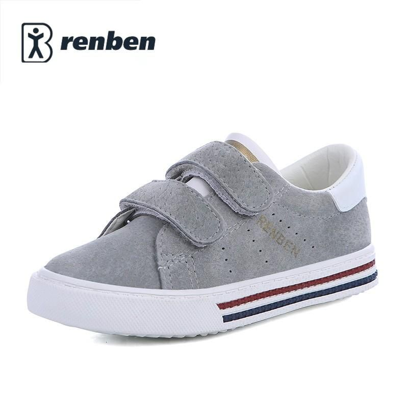 Children shoes girls sneakers Pig leather boys sports shoes 2018 new spring  leather shoes boys kids shoes for girl fashion kids 043378d58344