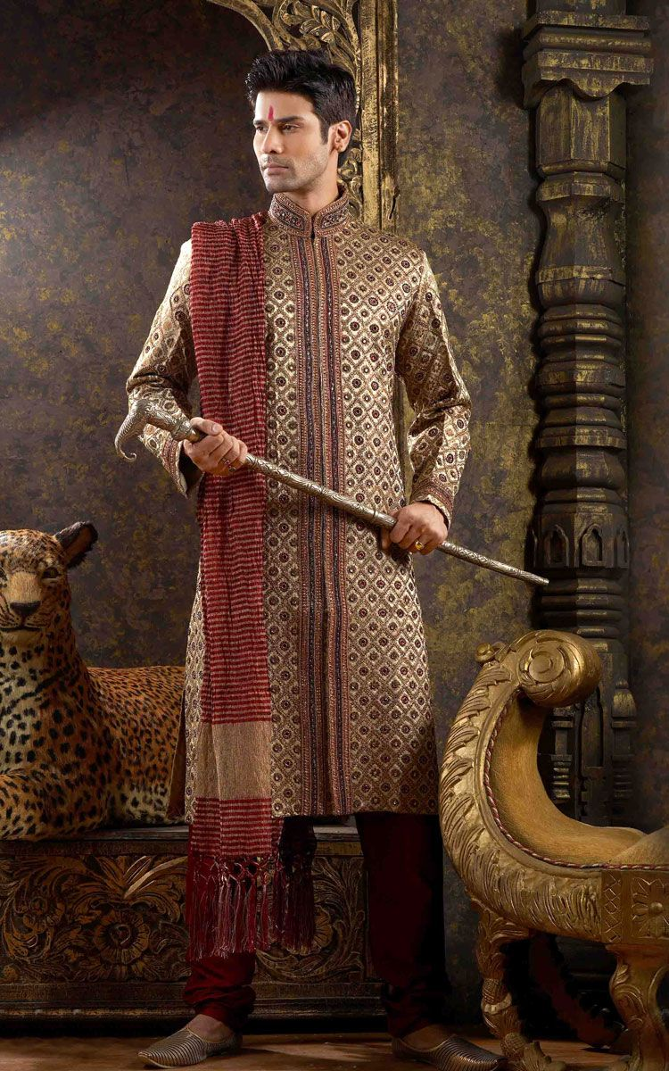 Indian-designer-wedding-wear-groom\'s-dresses (18) | zubi ...