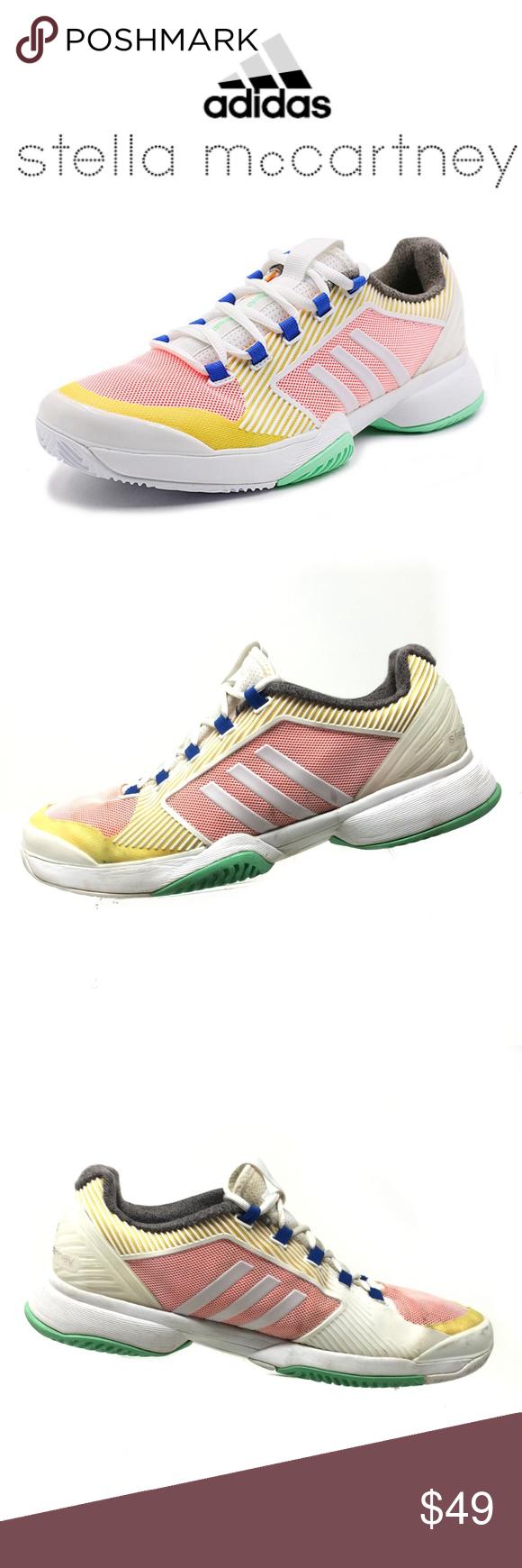 1c7648c7c2d7 Adidas Stella McCartney Barricade Shoes Womens 9.5 Adidas x Stella  McCartney Barricade Upcycled Tennis Shoes Women s
