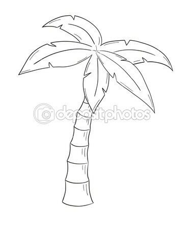 Palmboom Die Ik Ga Gebruiken Voor In Het Rechter Oog Tree Drawings Pencil Palm Tree Drawing Easy Tree Drawing Simple