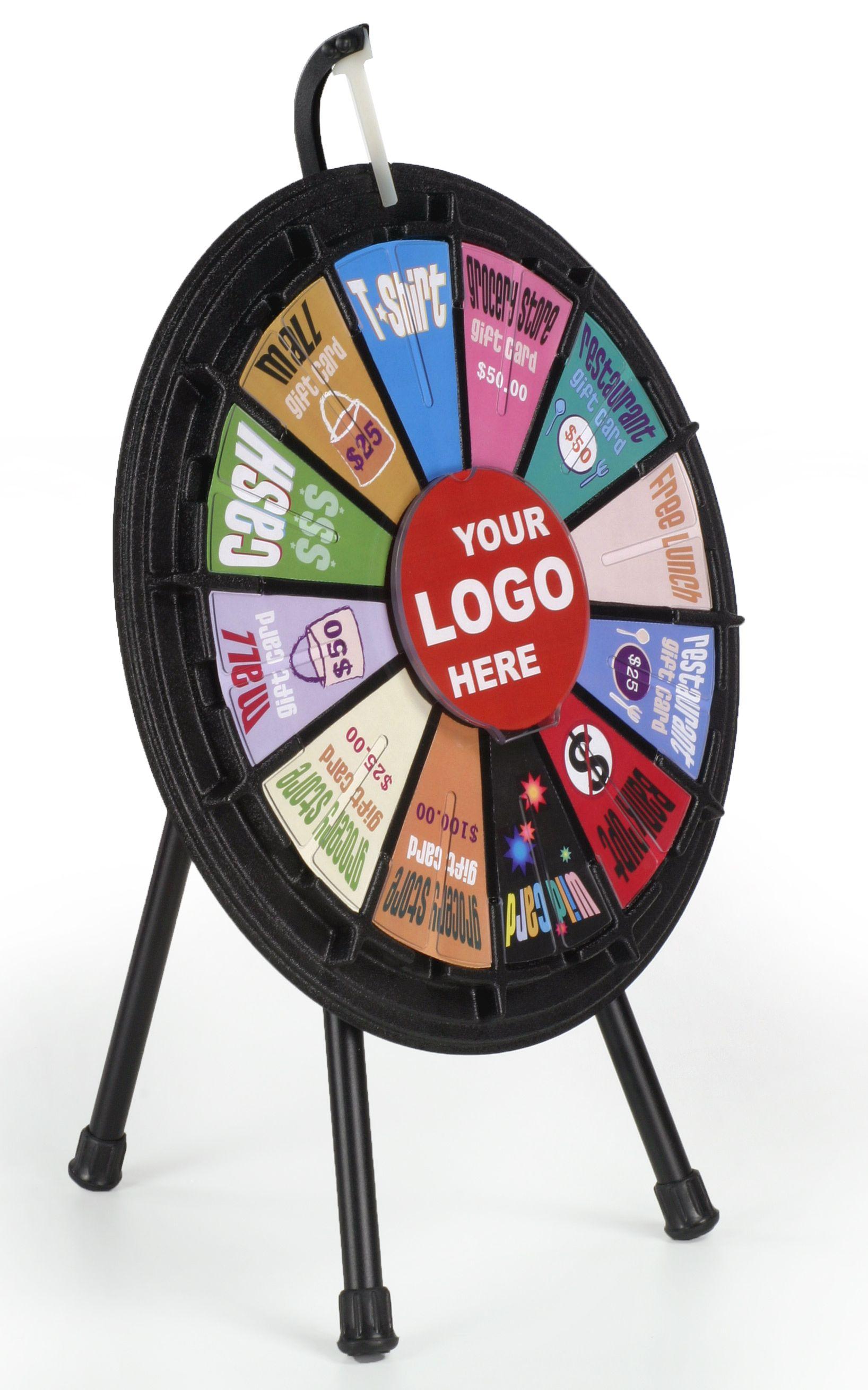 Mini Prize Wheel With 12 Slots Printable Templates Countertop Black Prize Wheel Spinning Wheel Game Spinning Wheel