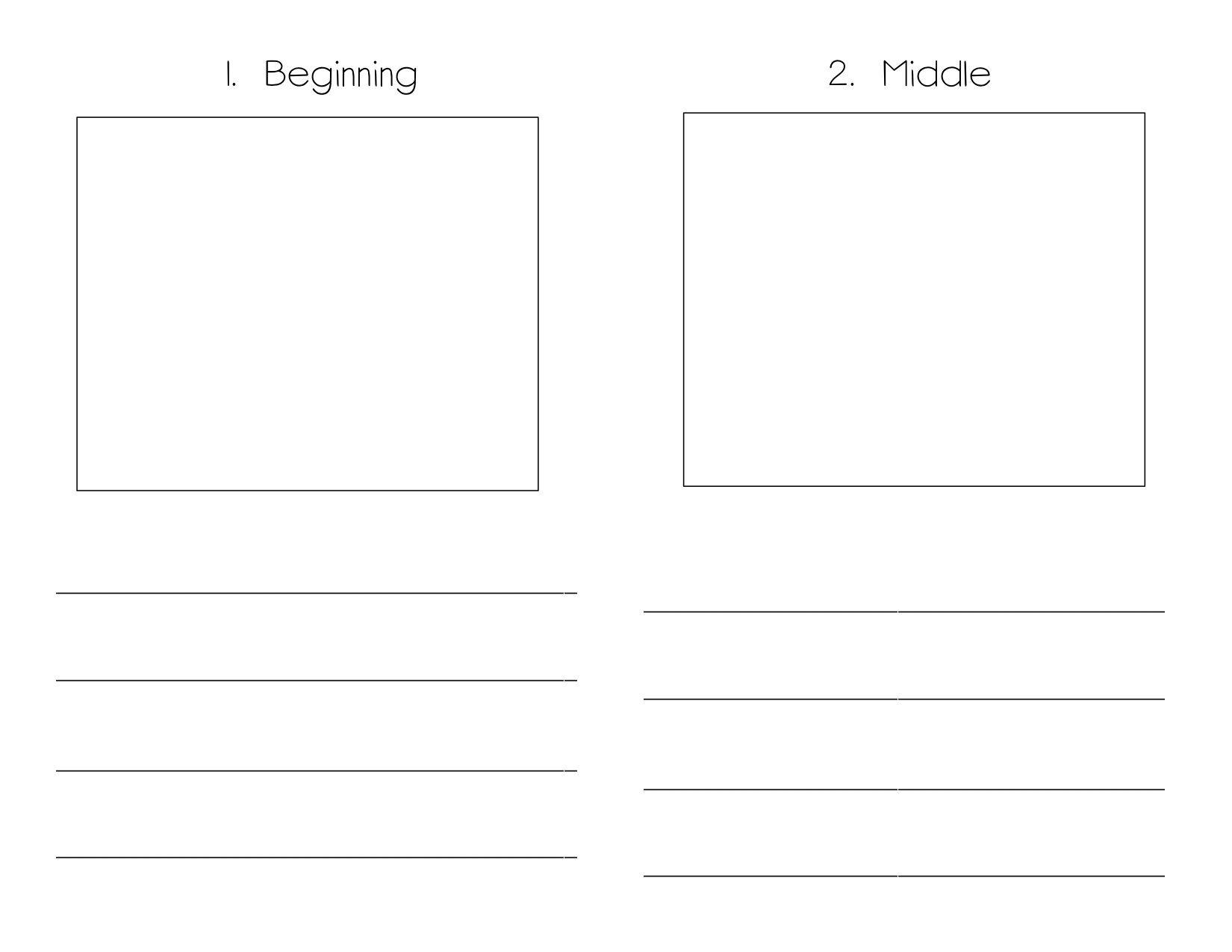 Book Writing Template Kindergarten