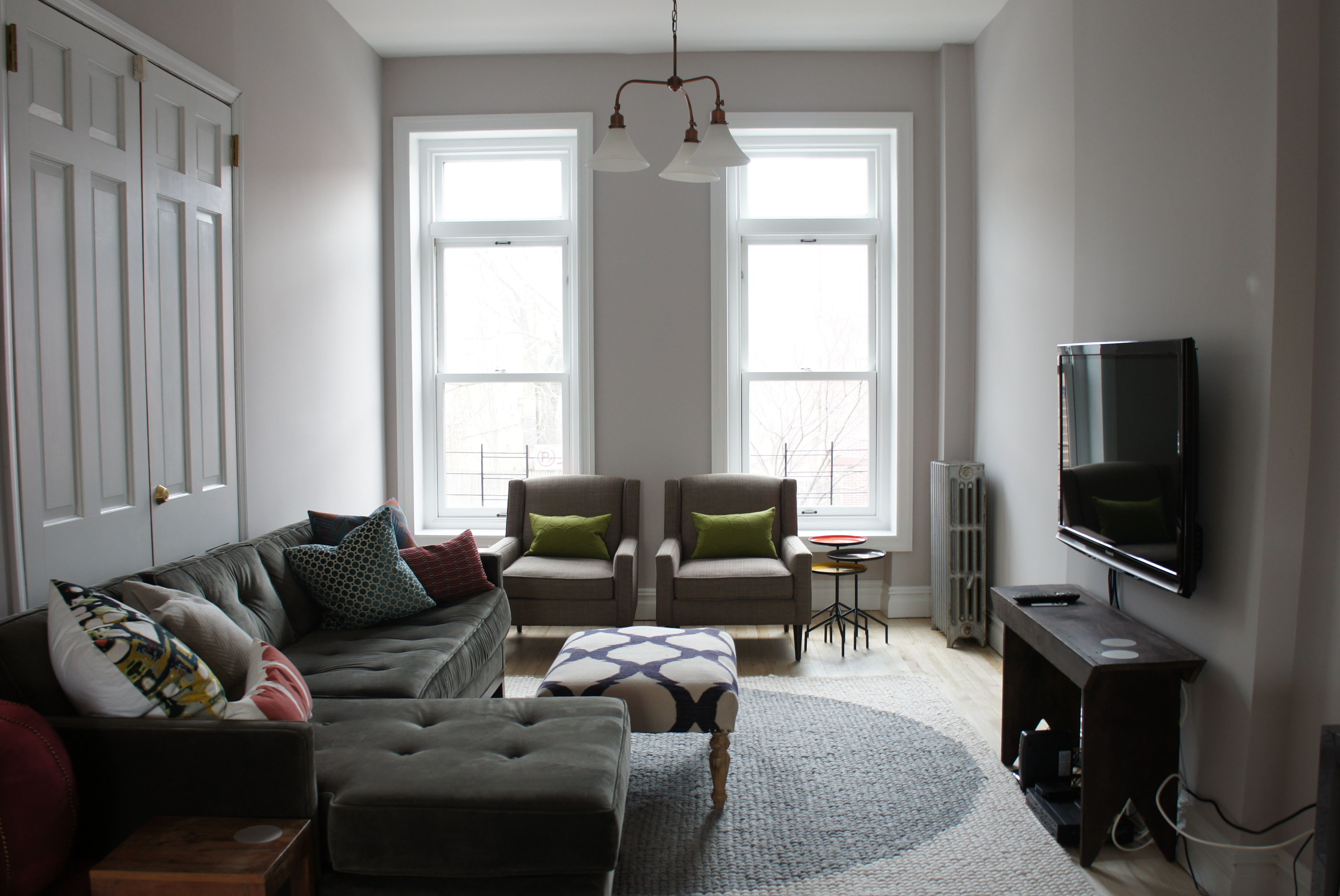 Benjamin moore cement gray extra room what to do with - Benjamin moore paint for living room ...