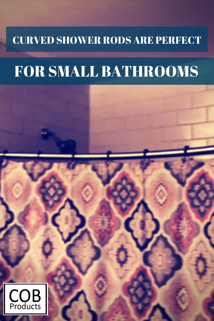 Using A Curved Shower Rod Gives Any Small Tiny Bathroom The