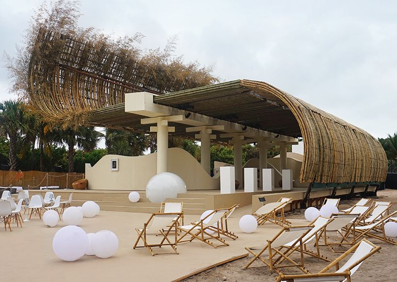 Sun Xun S Beachfront Bamboo Pavilion For Audemars Piguet With