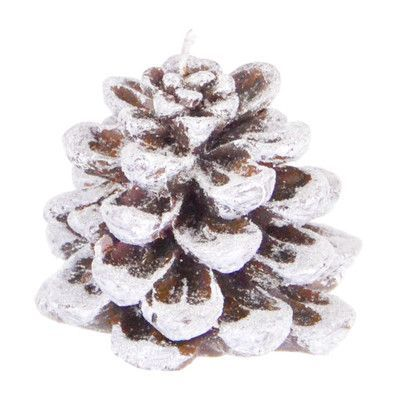 "The Holiday Aisle Snow Pinecone Novelty Candle Size: 3.25"" H x 2.75"" W x 2.75"" D"