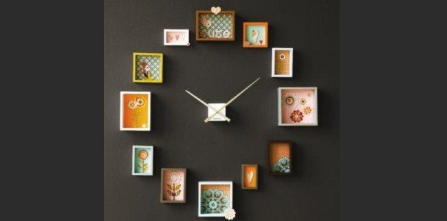 Reloj de pared con cuadros :) | hair | Pinterest | Relojes de pared ...